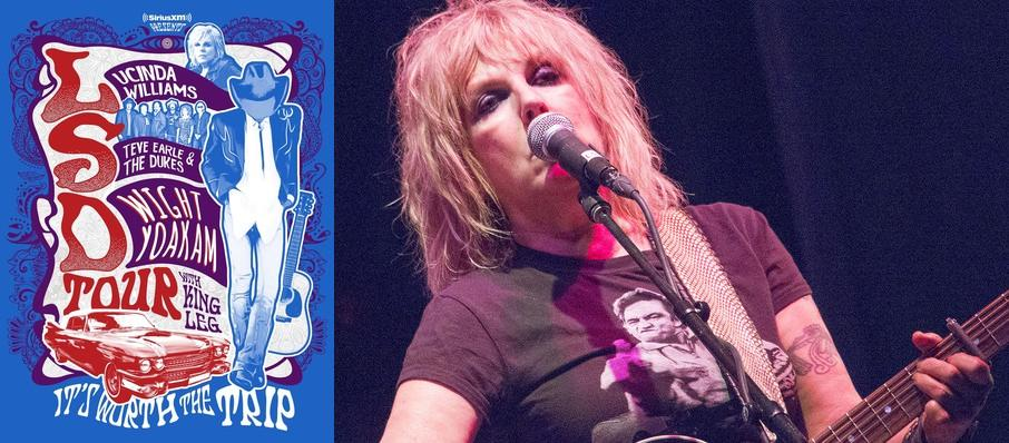 Lucinda Williams with Steve Earle and Dwight Yoakam at Comerica Theatre