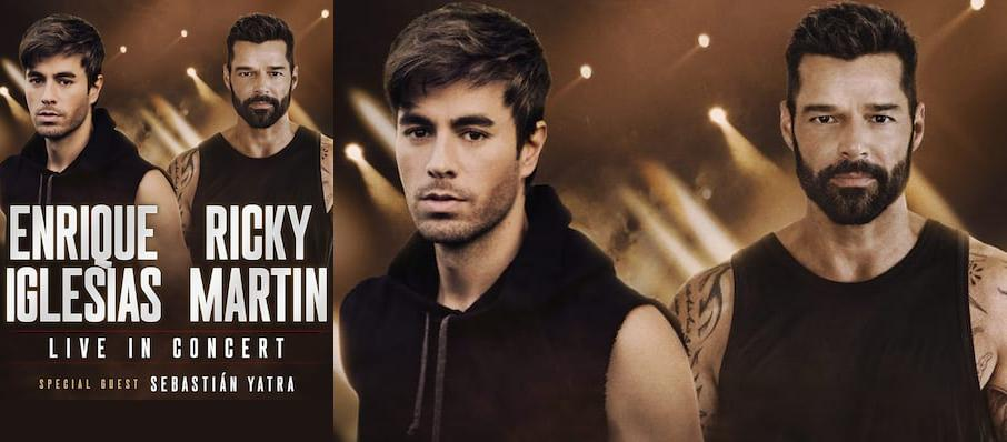 Enrique Iglesias and Ricky Martin at Gila River Arena