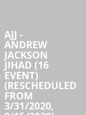 AJJ - Andrew Jackson Jihad (16+ Event) (Rescheduled from 3/31/2020, 9/15/2020) (Moved from The Pressroom) at The Crescent Ballroom