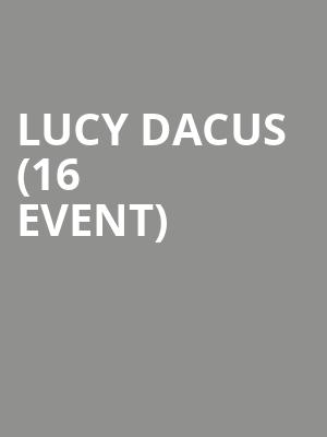 Lucy Dacus (16+ Event) at The Crescent Ballroom